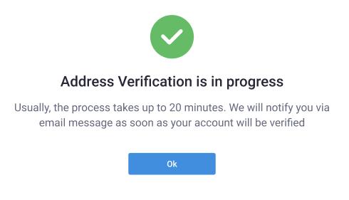 Address Verification Success