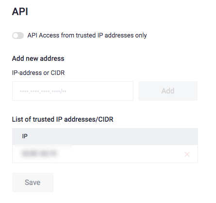 Access from trusted API
