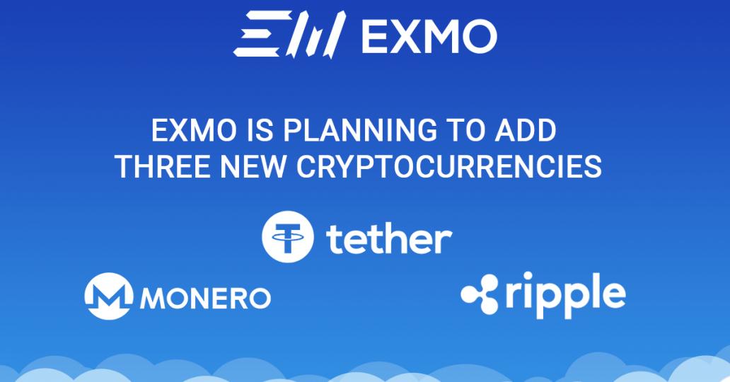 Ripple, Monero, Tether on EXMO