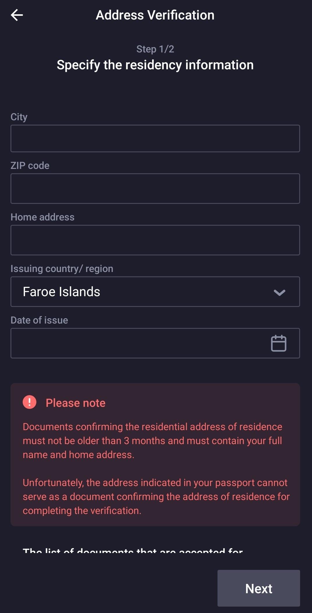 Address verification 1